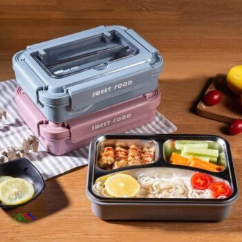 Portable Stainless Steel Lunch Box With Spoon On Sale Kitchen Lunch Box