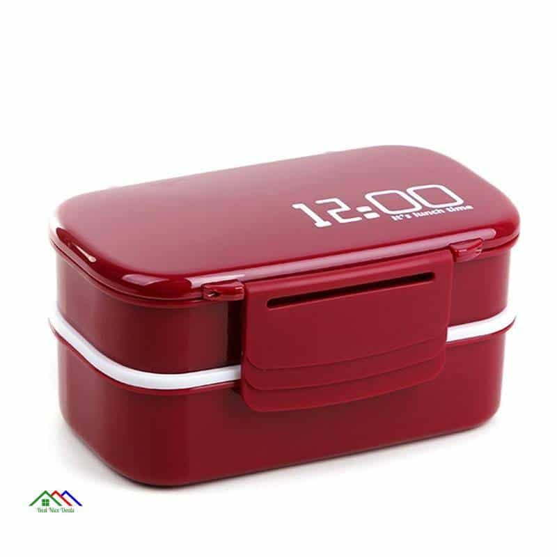 Double Layer Plastic Food Lunch Box On Sale Kitchen Lunch Box
