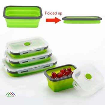 Foldable Portable Silicone Lunch Box On Sale Kitchen Lunch Box