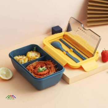 Portable 2 Layer Food Container Lunch Box Kitchen Lunch Box