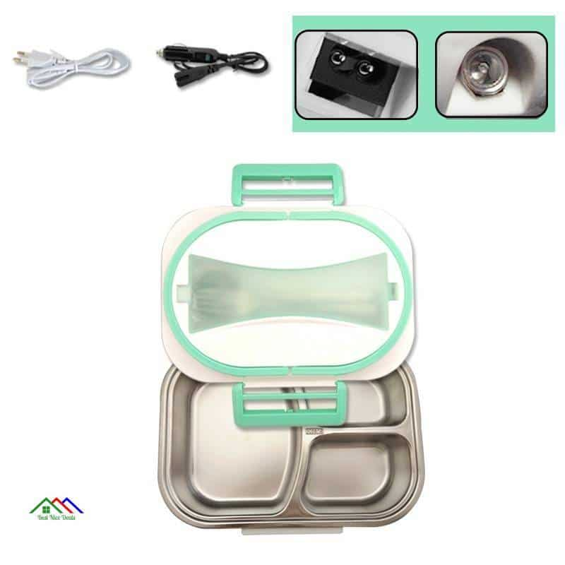 Stainless Steel Food Heating Lunch Box Kitchen Lunch Box