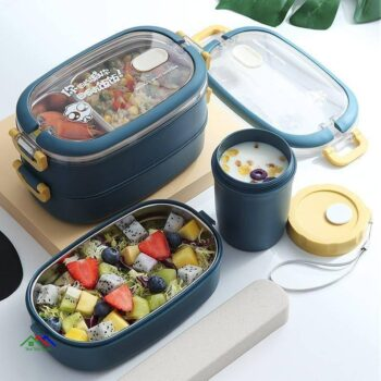 Multi Layers Stainless Steel Insulated Lunch Box Kitchen Lunch Box