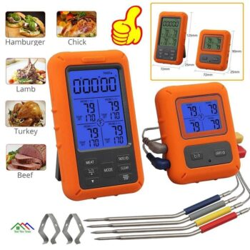 Remote Wireless Digital Meat Thermometer Kitchen Kitchen Thermometers