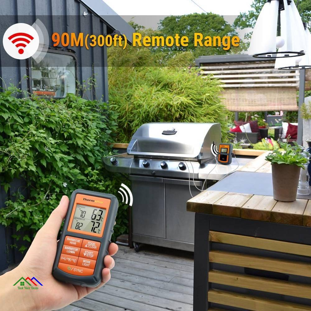 Wireless Remote Food Kitchen Thermometer Kitchen Kitchen Thermometers