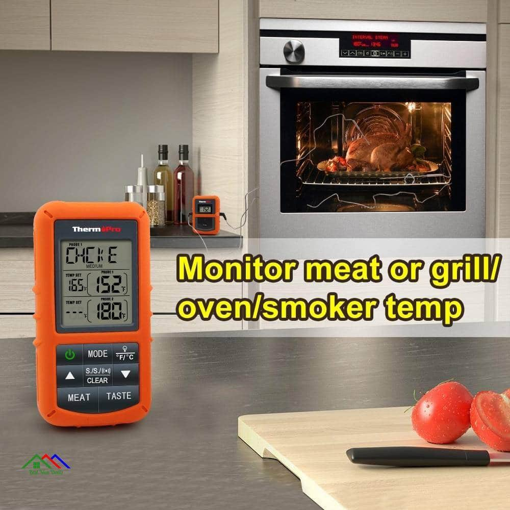 Remote Wireless Digital Meat BBQ, Thermometer Kitchen Kitchen Thermometers