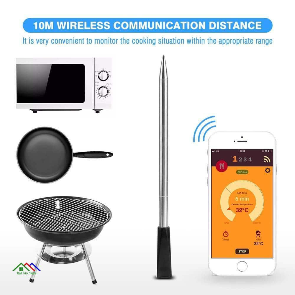 Wireless Digital Bluetooth Meat Food Thermometer Kitchen Kitchen Thermometers