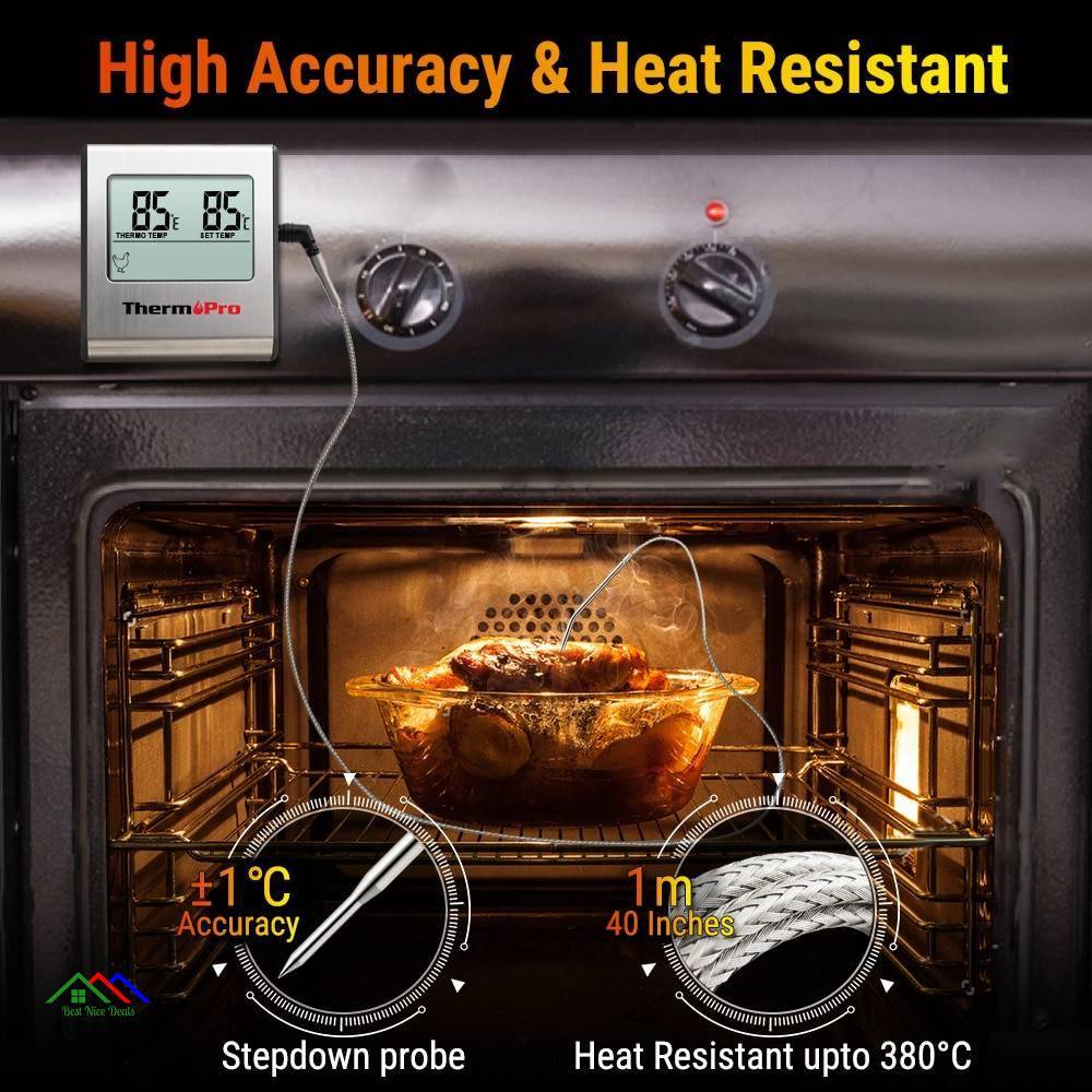 Digital BBQ Meat Thermometer Kitchen Kitchen Thermometers